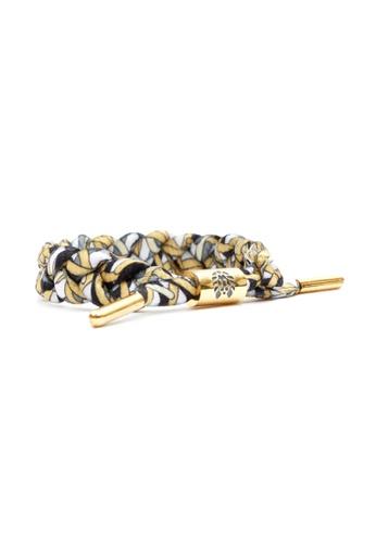 Rastaclat white and yellow and gold Rastaclat Braided Shoelace Bracelet - Noodles RA286AC51KOMHK_1