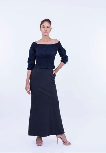 Ladies Jeans black Formal Office Long Skirt F385FAA2369A97GS_1