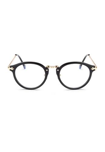 Kyfer's Eyewear & Essentials black and gold Oversize Round Vintage Eyewear II KY376AC97JEGSG_1