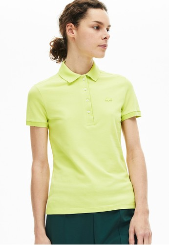 Lacoste yellow Women's Lacoste Stretch Cotton Piqué Polo Shirt 53619AA8A891F4GS_1