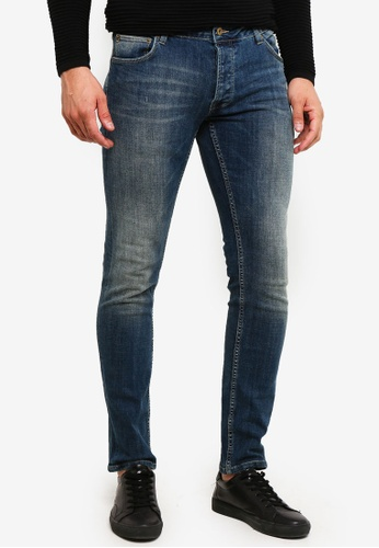 !Solid 藍色 Joy Bi-Stretch 修身牛仔褲 0B5F1AAEA44B83GS_1
