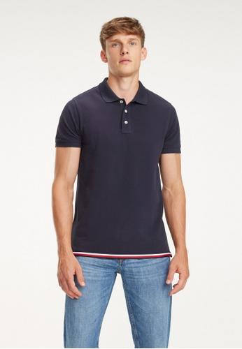 9430d859 Buy Tommy Hilfiger Global Striped Hem Slim Polo Online on ZALORA ...