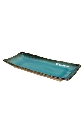 Tsuru SET OF 2 Tsuru Japanese Tableware  Rectangle Plate ED2EEHL47D15AFGS_1