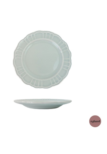 &glazed blue &Glazed Vintage Solids 8-inch medium round plate Sky 35057HL14951FFGS_1