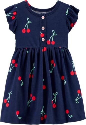 Carter's navy CARTER'S Girl Navy Cherries Print Dress 4C565KA6E4F001GS_1