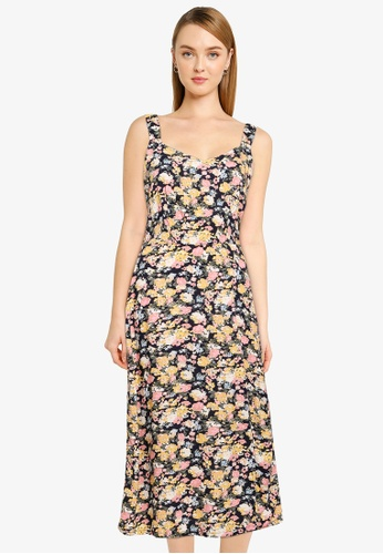 Vero Moda navy Easy Strap Calf Dress EA04BAAC66ADE4GS_1