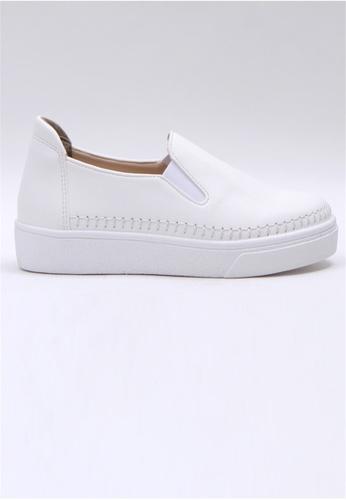Crystal Korea Fashion white Korean Versatile Comfortable Lightweight Casual Slip-Ons 9B9F8SH37CD957GS_1