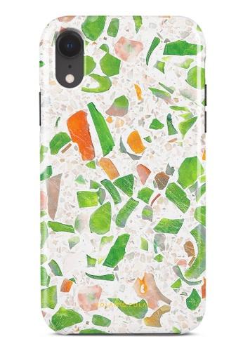 Polar Polar green Terrazzo Green Dual-Layer Tough Case Glossy For iPhone XR 88E42AC7597FBAGS_1