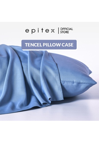 Epitex blue Epitex 100% Tencel Pillow Case - Pillow Protector (Dawn Blue) D3BB8HL75FC5DEGS_1