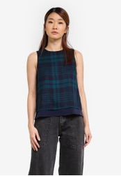 Something Borrowed navy Layered Sleeveless Top A144CAAE8D9797GS_1
