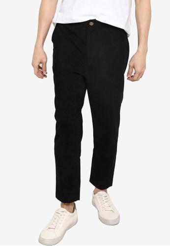 ZALORA BASICS black Corduroy Hidden Drawstring Pants FA9A3AACFE8A29GS_1