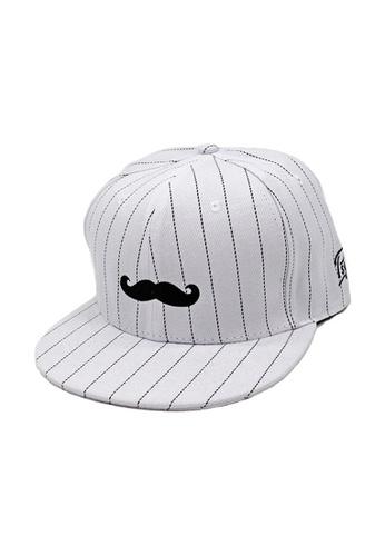 Private Stitch white Private Stitch Snapback Cap With Embroidery Moustache 71009AC25A07F3GS_1