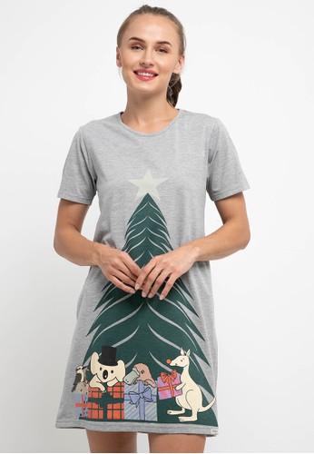 Puppy grey Dress Daster Sleepwear 95D8DAA1212E8AGS_1