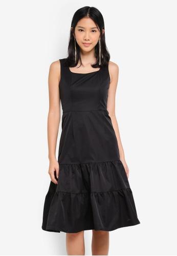 ZALORA black Sleeveless Tiered Dress 012AAAA63B9A07GS_1