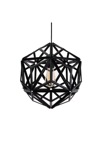 Qualy Qualy Icosa Wireframe Pendant Lamp (Black) 06A2DES48AAF9AGS_1
