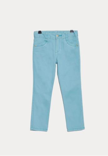 Bossini blue Bossini Kids Girl Long Pants Foggy Jade (74110900064) 47F59KAB43835BGS_1