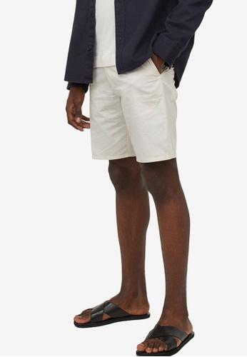 H&M white Woven Shorts 075D4AAB4BDE4AGS_1