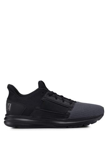 Puma black Enzo Street Running Shoes F2E47SH004BF36GS_1