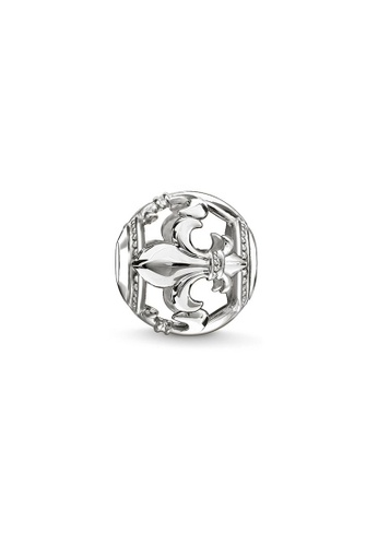 "THOMAS SABO silver Bead ""fleur-de-lis"" 073C0AC2906F37GS_1"