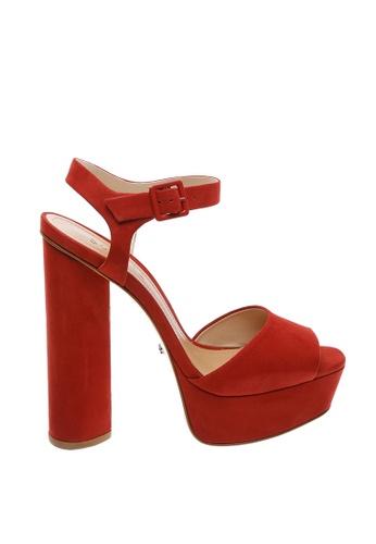 SCHUTZ 紅色 SCHUTZ 厚底搭帶高跟涼鞋 - ELENA (紅色) 0D781SHC966BB9GS_1