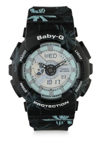 Baby-G black Casio BABY-G Jam Tangan Wanita - Black Blue - Resin - BA-110CF-1ADR 151D6AC8089EFBGS_1