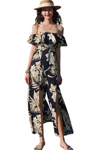 Sunnydaysweety multi Off Shoulder Floral Wide Leg Jumpsuit A21031930 0EF00AAC831F22GS_1
