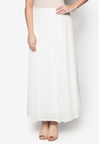 素色褶藝長裙esprit地址, 服飾, 長裙