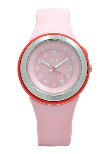 Lorus pink LORUS Jam Tangan - Pink Red - Silicon - R2319MX9  569F0ACBE68D22GS_1