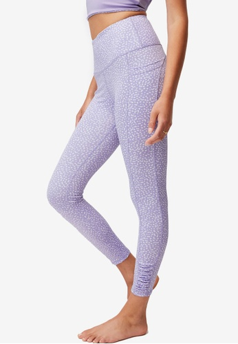 Cotton On Body purple Love You A Latte 7/8 Active Tights 796BFAA67A82D2GS_1