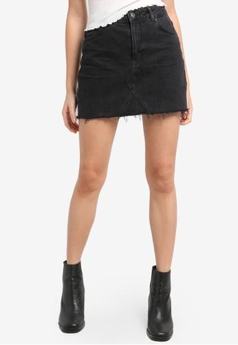 TOPSHOP black MOTO Denim Mini Skirt TO099AA90IUJPH_1