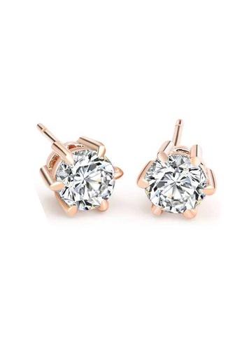 CELOVIS gold CELOVIS - Elsie Zirconia Stud Earrings in Rose Gold C946CACB4FD2A3GS_1