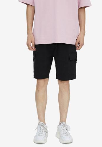 URBAN REVIVO grey Plain Shorts EEBC1AA9B8431BGS_1