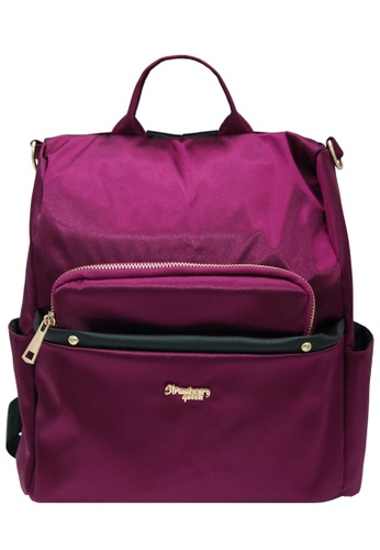 STRAWBERRY QUEEN purple 3-Way Anti-Theft Backpack - ANTI-THEFT BOB (Magenta) 597AAAC44607D9GS_1