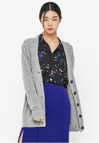 仿羊毛esprit 折扣直排鈕長袖外套, 服飾, 外套
