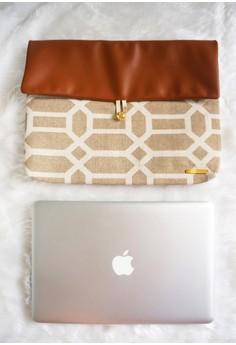 Zuri Laptop Sleeve - Brown Tiles