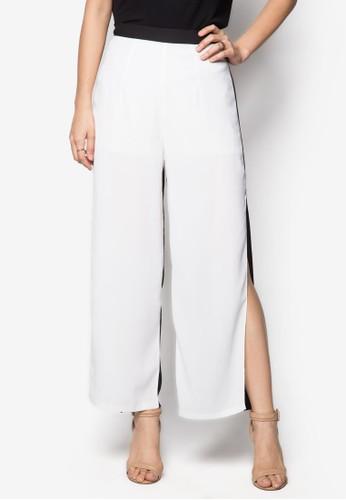 雙色開衩長褲, 服飾, 直esprit 京站腳褲