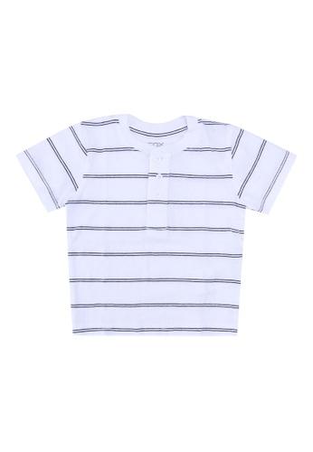 FOX Kids & Baby white Henley T-Shirt F5326KAFD8D5DDGS_1