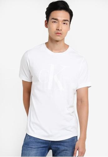 Calvin Klein white Boxy Oversize Tee - Calvin Klein Jeans CA221AA40SCTMY_1