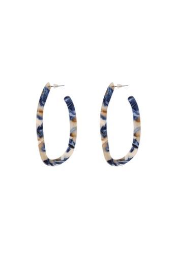 Tutu and Co blue Geometric Acetate Hoops – Joy 79001AC591E9C8GS_1