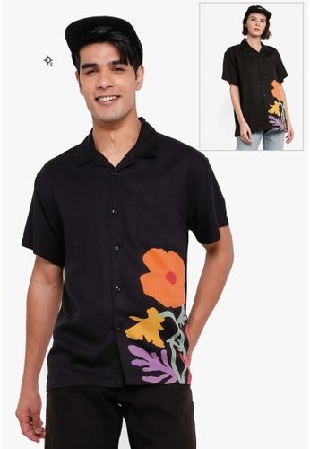 OBEY black Nico Woven Shirt 21B19AA0096E09GS_1