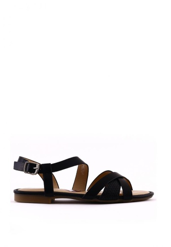 7soles black Aliana L Strappy Sandals 850A9SH536A3D2GS_1