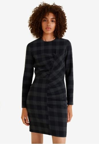Mango black Ruched Detail Dress 569F4AA438D7C5GS_1