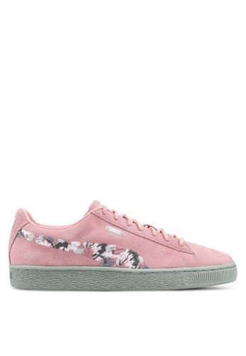 Puma pink Suede Sunfade Stitch Shoes PU549SH0SWEIMY_1
