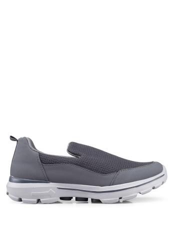 UniqTee 灰色 Lightweight Slip-On Sport Shoes Sneakers 435CBSH5320C34GS_1