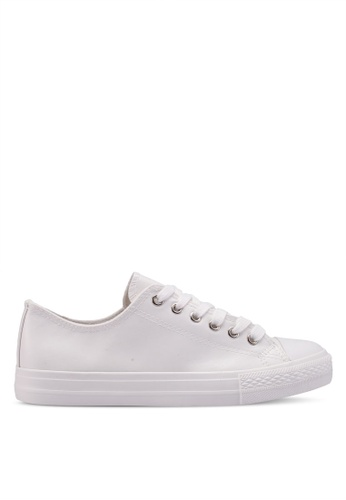 Dorothy Perkins white White Pu Ingrid Trainers 381FDSH713E625GS_1