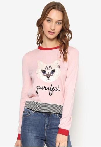 貓咪圖文針織衫, 服飾,尖沙咀 esprit outlet 外套
