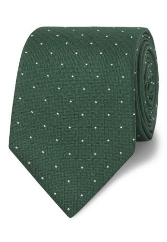 T.M. LEWIN green T.M.Lewin Classic Green Pin Spot Silk Slim Tie 9B65EAC41C30F0GS_1