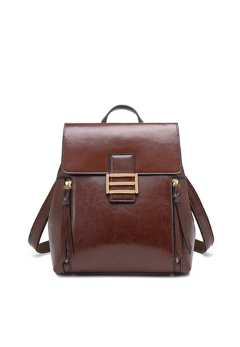 Twenty Eight Shoes brown VANSA Vintage Burnished Cow Leather Backpacks VBW-Bp3189 38646AC4F90D50GS_1