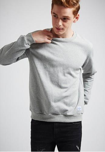 休閒百搭。高磅大絨。純棉大學圓領T-MIT-03esprit 尺寸692-灰色, 服飾, 外套