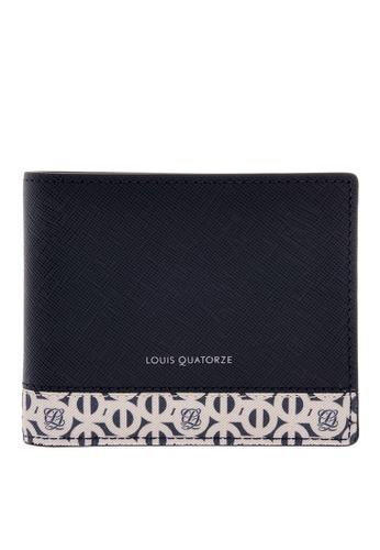 Louis Quatorze navy Leather Wallet LO321AC20LQPSG_1